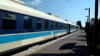 preview picture of video 'רכבת ישראל: קטר 748 עם רכבת בנהריה Israel Railways: Loco 748 in Nahariyya'
