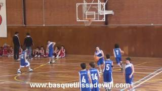 preview picture of video 'MINI-MASCULINO 2010 C.B. BASQUET LLIÇA DE VALL  CALETAMIENTO  EN SANT CELONI'