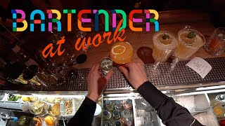Bartender At Work/Episode 1 #GoPRo  Passion Fruit, Vanilla, Mint And Bubbles By Mr.Tolmach