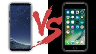 من الأفضل؟ مقارنة ممتازة بين سامسونج اس 8 بلس و ايفون 7 بلس