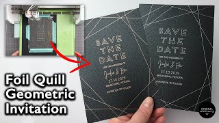 How To Use The Foil Quill   Design Geometric Invitations In Illustrator And Foil With The Foil Quill