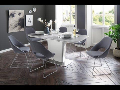 Esstisch Koami mit Keramik-Tischplatte, ausziehbar