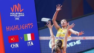 CHINA vs. ITALY - Highlights Women   Final Round   FIVB Volleyball Nations League 2019