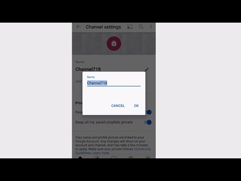 How to Change YouTube Channel Name 2021 (Mobile App)