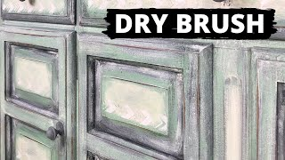 How To Dry Brush And Layer Chalk Paint
