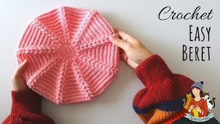 How To Crochet An Easy Beret Hat / Beginner Friendly Tutorial