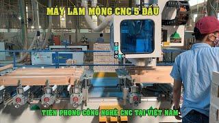 MÁY CNC MỘNG ÂM 5 ĐẦU BÁN CHẠY NHẤT   WM-5CNC