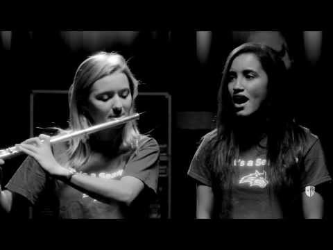 Beat boxing my school's alma mater on the flute!