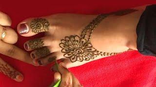 Lovely Feet Jewelry Mehndi Design For Beginners | Bridal Easy Mehndi Design