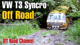 preview picture of video 'Volkswagen T3 Syncro 4WD Off Road'