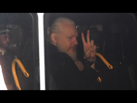 WikiLeaks founder Julian Assange was forcibly bundled out of the Ecuadorean Embassy in London and into a British police van, setting up a potential court battle over attempts to extradite him to the US. (April 11)
