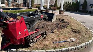 Mini Skid Steer TORO DINGO TX 427 Lawn Renovation on a job with On Point Everything