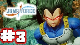 JUMP FORCE Gameplay Walkthrough Part 3 - Evil Vegeta (Let's Play)