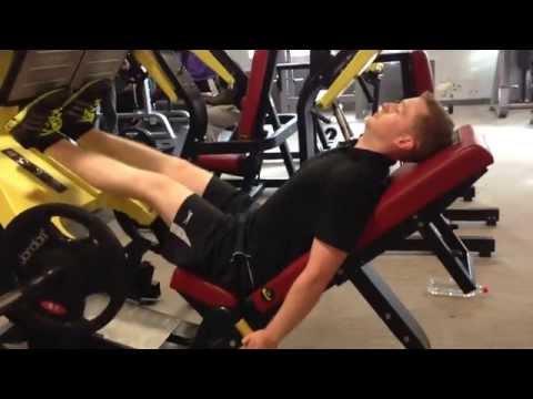 Calf Press on 45 degree leg press