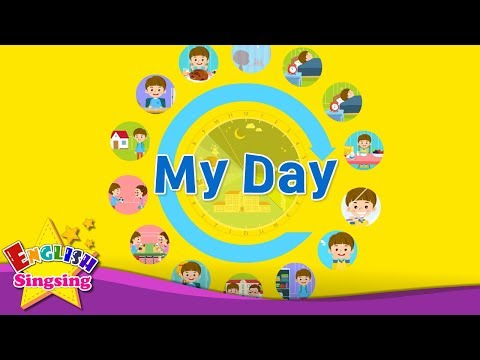 Kids vocabulary - My Day - Daily Routine