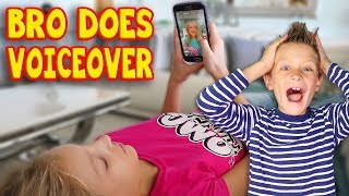 Brother does Voiceover Sister Lazy Morning Routine