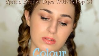 Spring Bronze With Pop Of Blue | Makeup Tutorial - Video Youtube