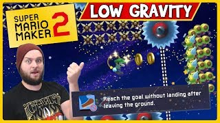 INSANE 0.08% Clear Rate Low Gravity Level! - Super Mario Maker 2 [Stream Highlights]