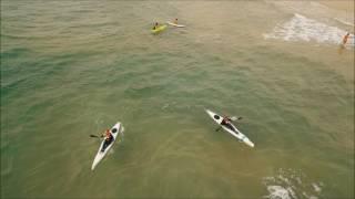 קיאקי סרפסקי (surf ski) מדגם epic v5  - בצילום אווירי