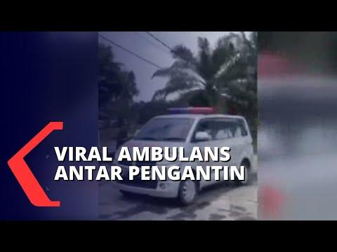 viral ambulans angkut hantaran pengantin dinkes palembang beri teguran