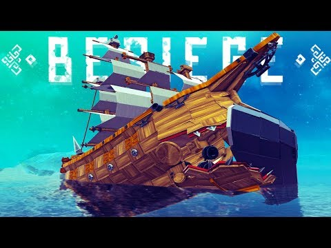 Driving A Giant Ship That Devours Other Ships  - Steam Engines & More! - Besiege Best Creations