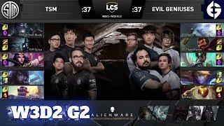 TSM vs Evil Geniuses | Week 3 Day 2 S10 LCS Summer 2020 | TSM vs EG W3D2