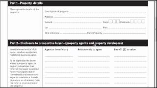 Property Occupations Act Form 8