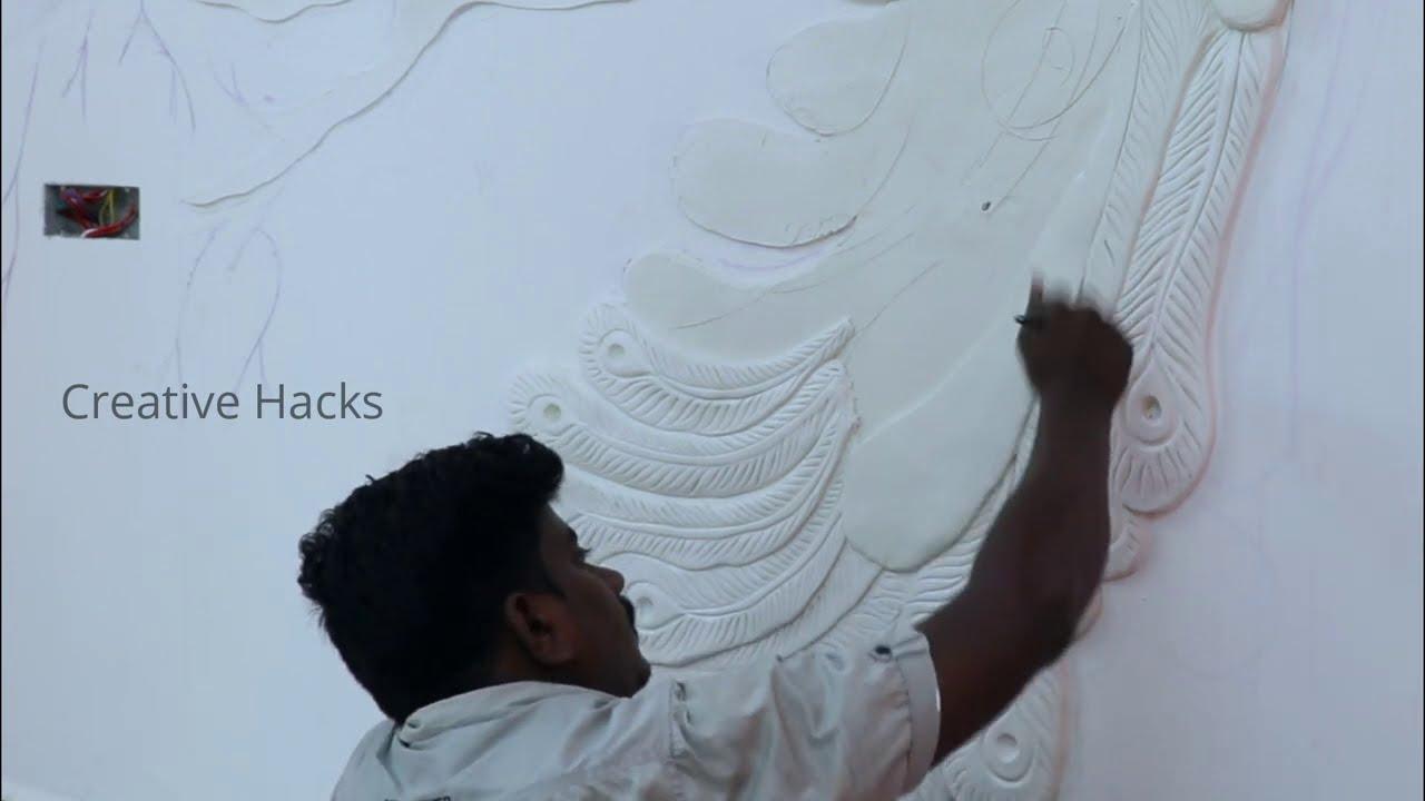 3d peacock mural wall art