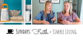💚New: 🤔Did we get rid of something Diana needed in her kitchen declutter?🍳 Faith + Simple Living
