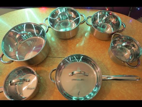 Heim Concept 12 Piece Stainless Steel Cookware Set with Glass Lids Review