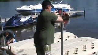 Installing Moring Poles on PMI Jet Ski Docks