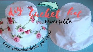DIY Bucket Hat Reversible FREE PATTERNS! Sew Aldo Sewing, Crafting and Creating
