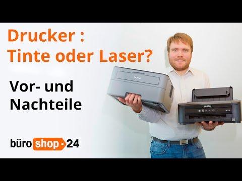Drucker: Vor- und Nachteile von Tinte und Laser