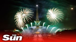 Live: Fireworks At The Eiffel Tower To Mark Bastille Day In Paris