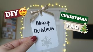DIY CHRISTMAS TAG | CRICUT PROJECT