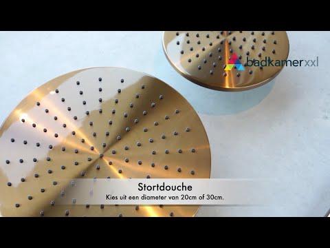 Brauer Copper Edition stortdoucheset - hoofddouche 20cm - staafhanddouche - geborsteld koper PVD