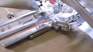 Универсальный карманный автомат для обработки прорезных карманов «в рамку» и «в листочку» с клапаном или без клапана, прямых и наклонных, внутренних и наружных, а также карманов с сопоставлением рисунка BASS 3204 (3203) ASS video