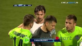 Милевский получил красную карточку за 3 минуты на поле