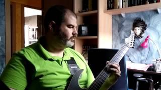 Skervesen Raptor 6 + BKP 10th Anniversary PUs (metal, detuned)