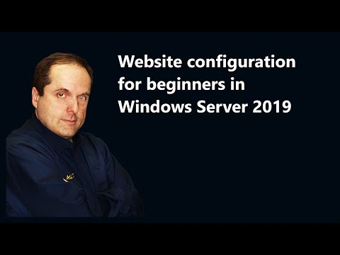 Website configuration for beginners in Windows Server 2019