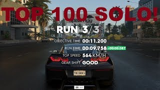 The Crew 2 Drag Top100 solo run  / Top 10 ghosting Tutorial