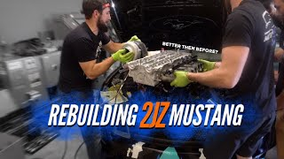 How I rebuilt my BLOWN UP 2JZ Mustang 1000 miles from Home...