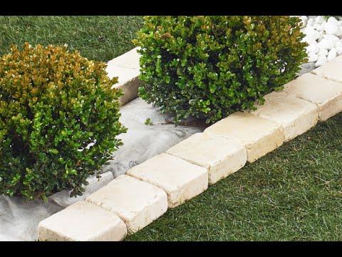 VIDEO GUIDA SOTTO SIEPE, SENZA SCAVO e con bordo in pietra - Folénde, giardini in pietra naturale