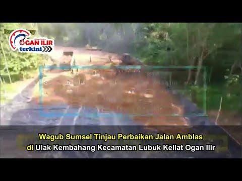 Wagub Sumsel Tinjau Perbaikan Jalan Amblas di Ulak Kembahang Ogan Ilir