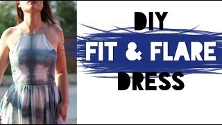 HOW TO SEW A FIT AND FLARE DRESS! (DIY SEWING TUTORIAL)