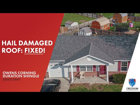 Warrenton, Missouri home with hail damage gets a full roof replacement!