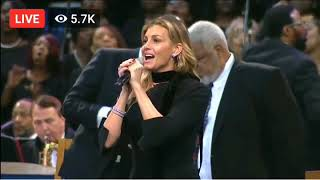 Aretha Franklin funeral - Faith Hill - What a Friend We Have in Jesus