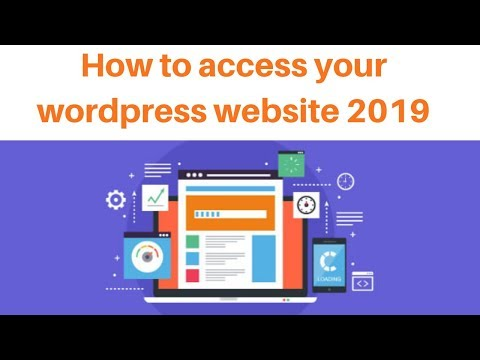 How to access your wordpress website 2019