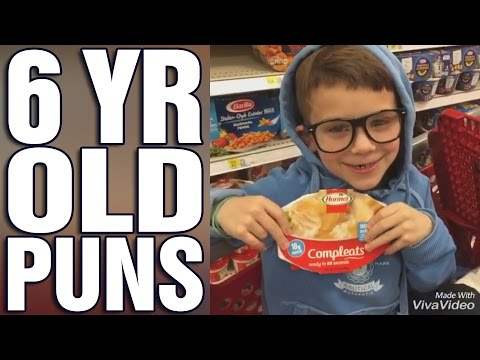 6 year old makes hilarious puns!
