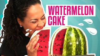 How To Make A Pink Velvet WATERMELON out of CAKE | Yolanda Gampp | How To Cake It